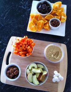 Fruit, Nuts, Dark Choc & Hommus