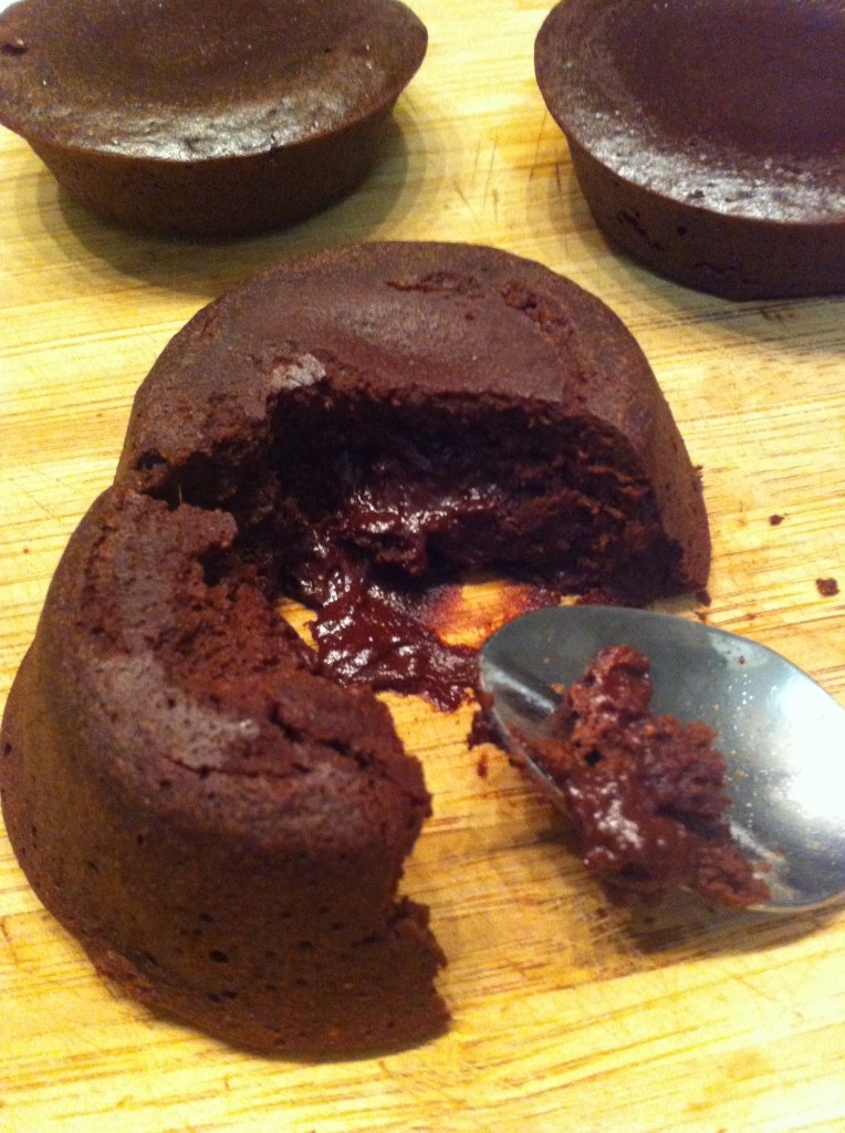 Hazelnut Molten Cakes from Healthy Chocolate Delights eBook