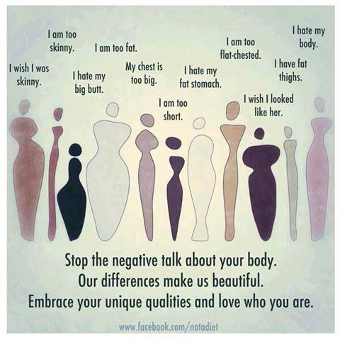 Stop negative body talk