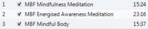 Mindfulness CD tracks