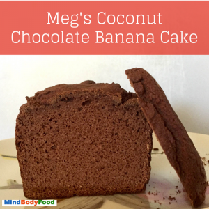 Coconut Cacao Banana Cake [Recipe]
