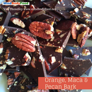 Orange, Maca & Pecan Raw Milk Chocolate Bark [Recipe]