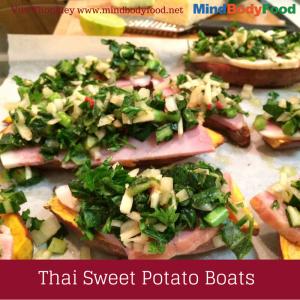 Thai Sweet Potato Boats