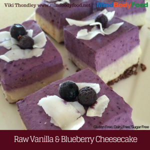 Raw Vanilla & Blueberry Cheesecake