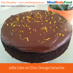 Chocolate JAFFA Cake with Choc Orange Ganache