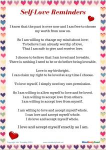 Why You Need To Love Yourself Free Pdf Printable Viki Thondley
