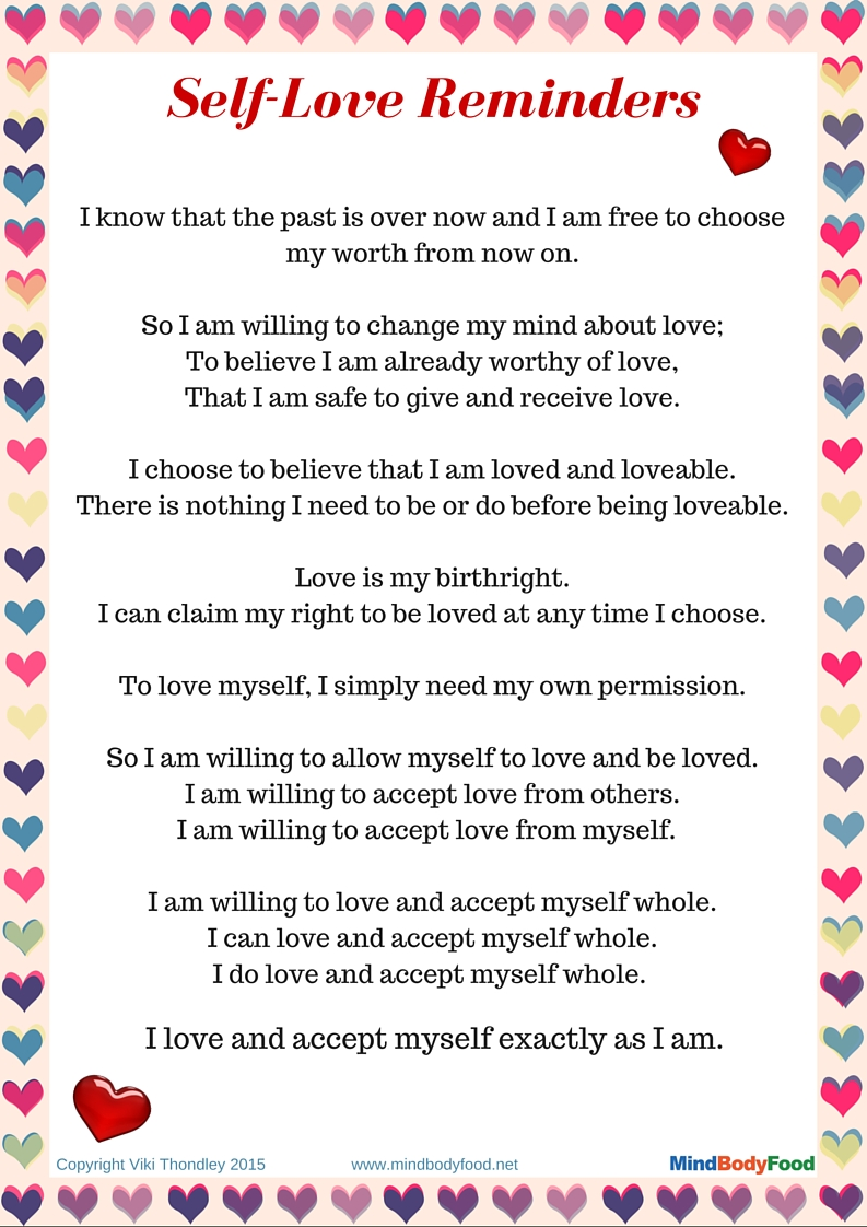 Why You Need to Love Yourself + Free PDF Printable – Viki Thondley ...