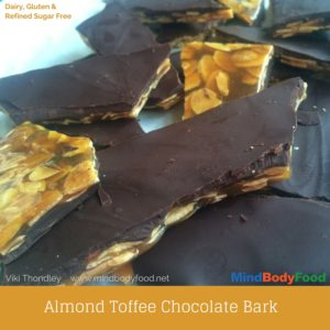 Almond Toffee Chocolate Bark Recipe